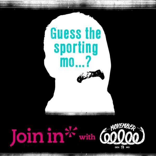 1 of 2: Guess the sporting mo... Let's change the face of men's health. Join In with Movember