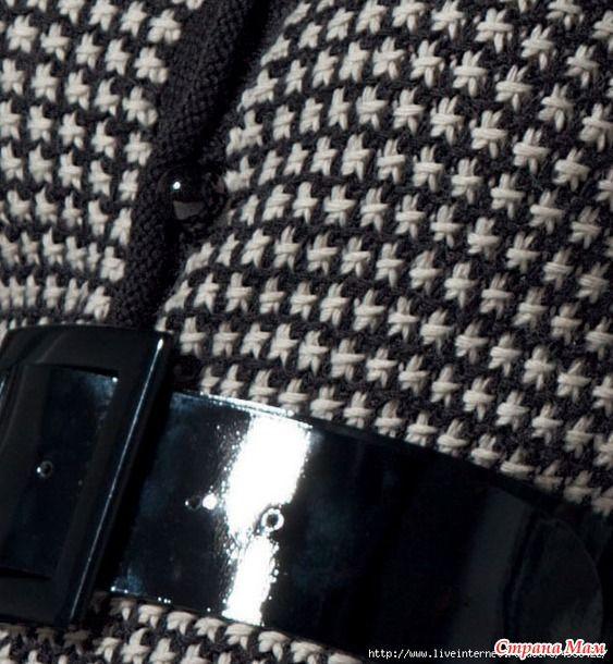 Фантазийные узоры спицами  Кол-во петель кратно 3+по 1 кромочной с обеих сторон.  1-й ряд (Noir):...