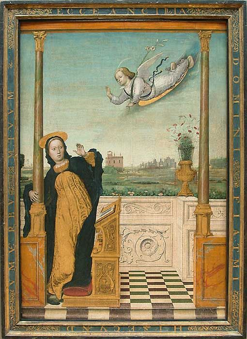 Triptych of the Annunciation by Carlo Braccesco.  https://www.artexperiencenyc.com/social_login/?utm_source=pinterest_medium=pins_content=pinterest_pins_campaign=pinterest_initial