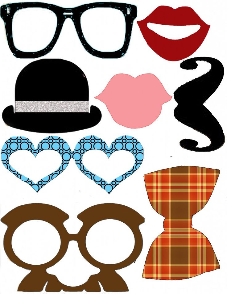 It's just an image of Rare Free Printable Photo Booth Props Template