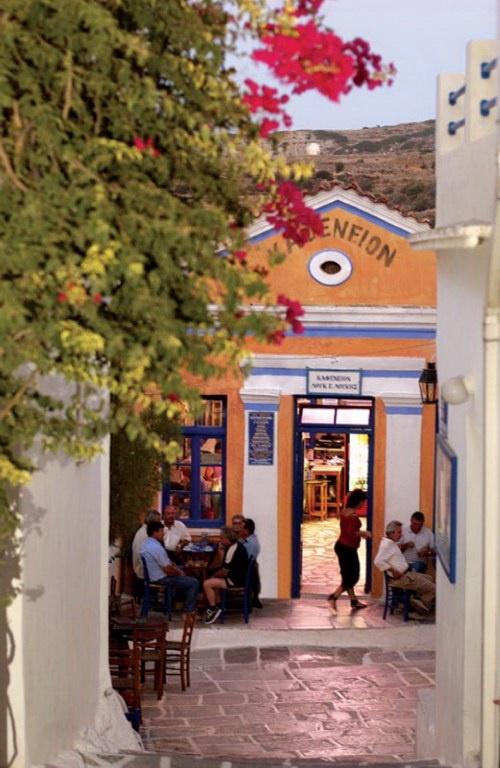 Kafeneio, Lefkes, Paros island, Greece