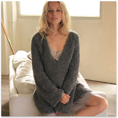 patron tricot pull femme simple