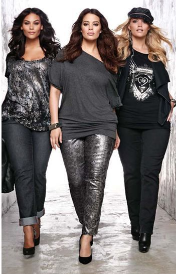 awesome edgy clothing for plus size women | From edgy girls to business women....