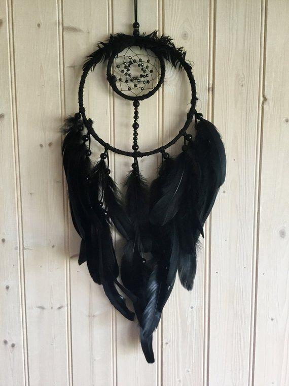 Large Black Dreamcatcher Black Dreamcatcher Black Dream Catcher