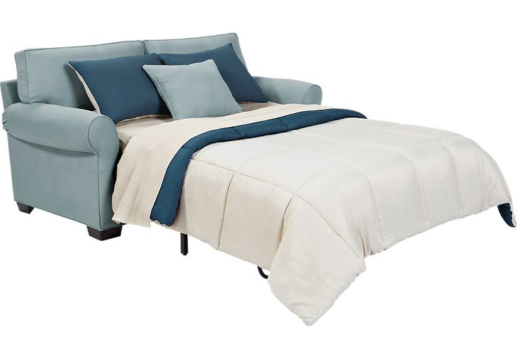 Cindy Crawford Home Bellingham Hydra Sleeper Loveseat  - Sleepers (Blue)