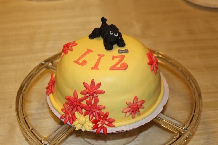 Playful Dog Birthday Cake - Chocolate cake with Raspberry buttercream with fresh Raspberries by Cocoabai Cakes