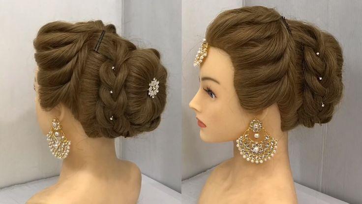 Schönste Frisur für Hochzeit oder Party | Einfache Frisuren | Brötchen-Frisur mit Trick