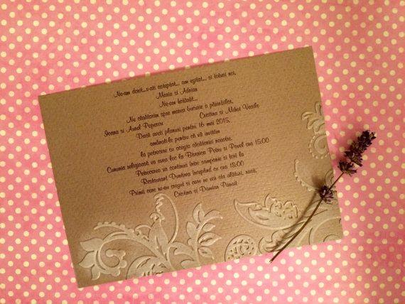 Inviti di nozze/rilievo invito di handmadebymaddy su Etsy