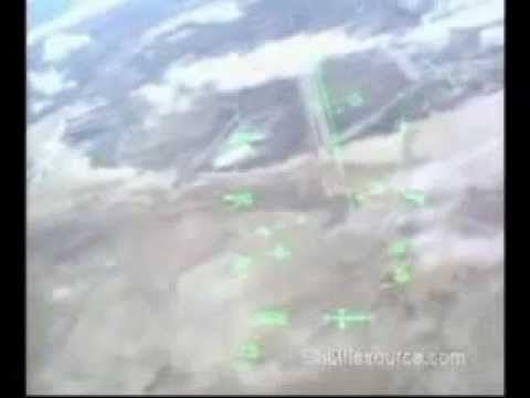スペースシャトル オンボードカメラ 大気圏突入から着陸まで