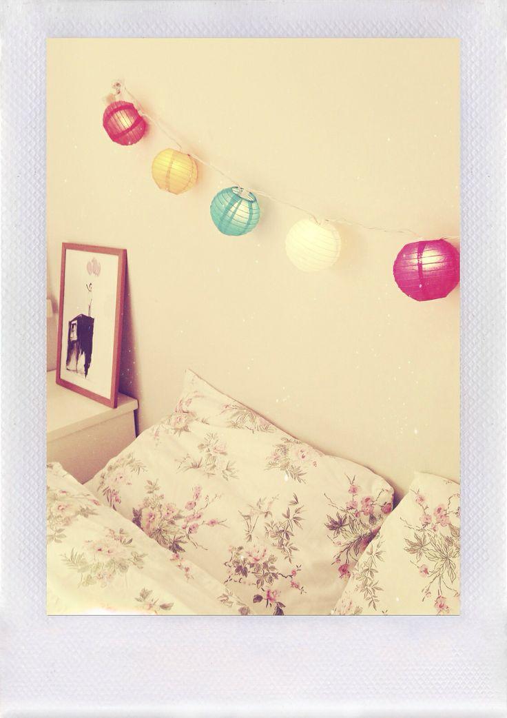 My bedroom's new lamps <3