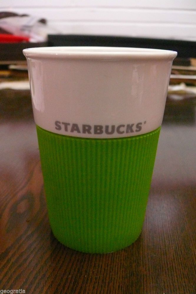 Starbucks Bone China Silicone Grips Travel Coffee Mug