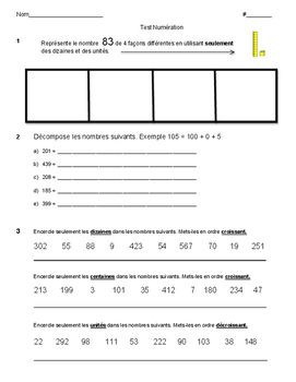 This is a summative test in Number Sense and Numeration.  There is an answer key attached to this test. There is an opportunity for the student to answer a higher order thinking problem to achieve a level 4 grade.