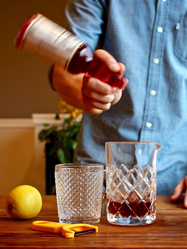 Home Bar: Vieux Carre recipe: the perfect marriage of a Manhattan and a Sazerac cocktail.