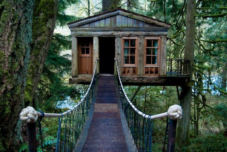 3.)  Treehouse Point -Issaquah, WA  You have your choice between five different, handmade treehouse cabins, each designed for the ultimate romantic experience. When you're not enjoying the solitude of life in the trees, or hiking in the Washington woods, this resort also offers massages, yoga classes, and even a workshop on how to build a treehouse.