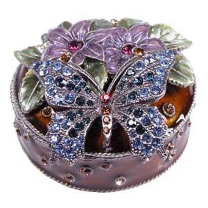 .Purple Butterfly Trinket Box