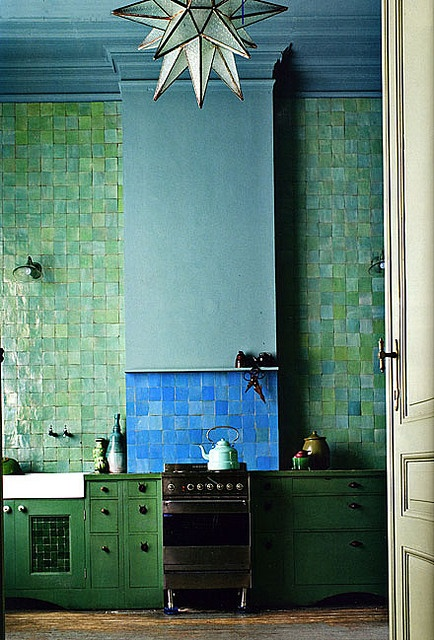 Perfect green & blue. This tile would look so awesome as a backsplash A.S.