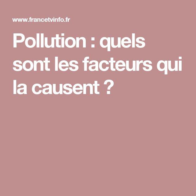 Pollution : quels sont les facteurs qui la causent ?