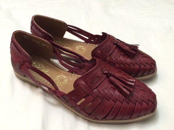 Gina Motas Piel - Mexican Huaraches - Huaraches Mexicanos - Shoes - Vintage…
