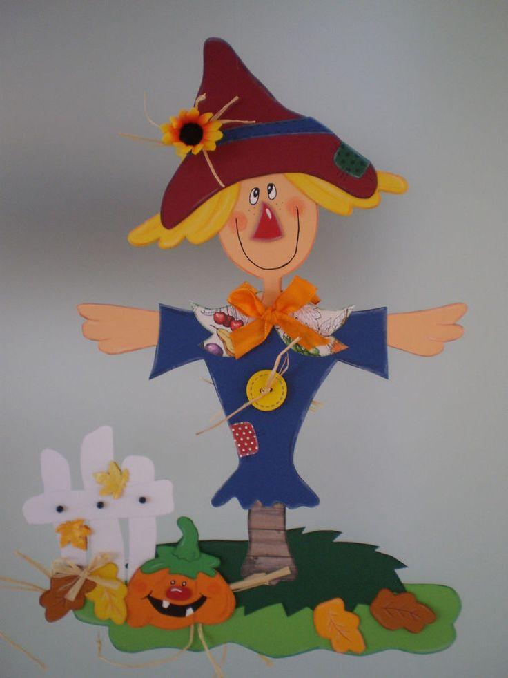 Fensterbild Vogelscheuche am Gartenzaun - Herbst-Dekoration - Tonkarton! in Möbel & Wohnen, Hobby & Künstlerbedarf, Basteln | eBay