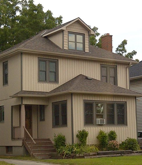 Brown vinyl siding brown board and batten vinyl siding for Vertical siding options