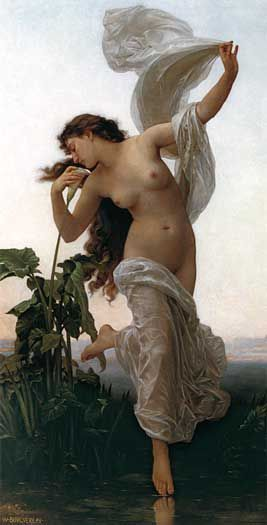 Aurora, goddess of the dawn, renews herself every morning and flies across the sky, announcing the arrival of the sun. :::: original : dawn by william-adolphe bouguereau