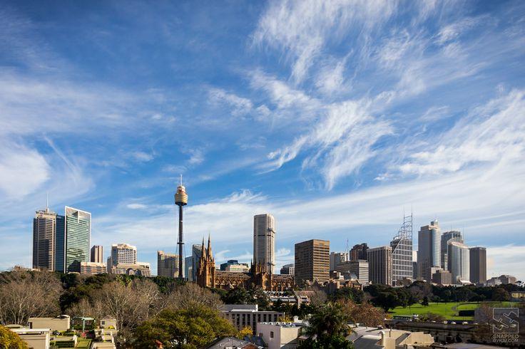 Sunny winters day in Sydney.  #landscape #cityscape #skyline #photography #sydney #australia #sun #sky