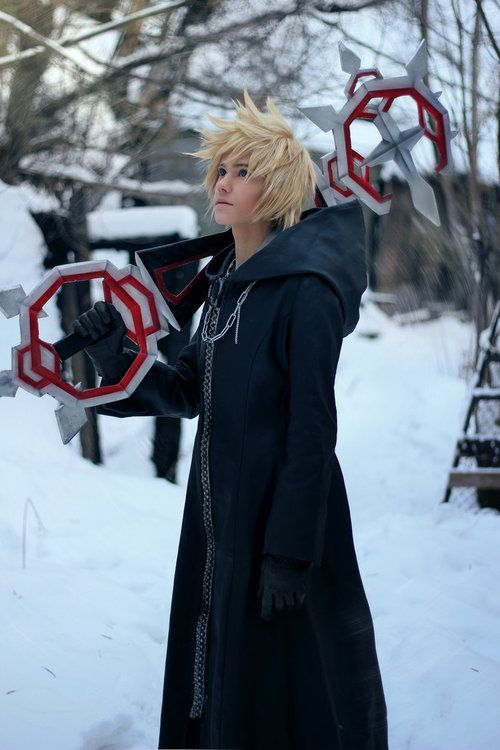Roxas - Kingdom Hearts (I love the Keyblade they have! Nice touch!)