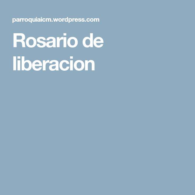 Rosario de liberacion