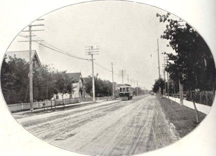 This is River Avenue, looking West from Assiniboine Park in Fort Rouge. N.D.