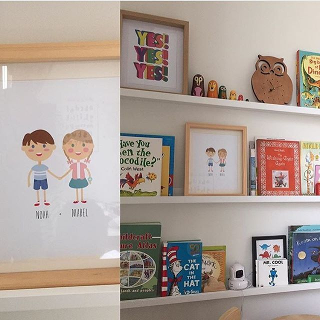 Our custom 'best+friends' print looking mighty fine in the home of @michharmer #helloink #bestfriends