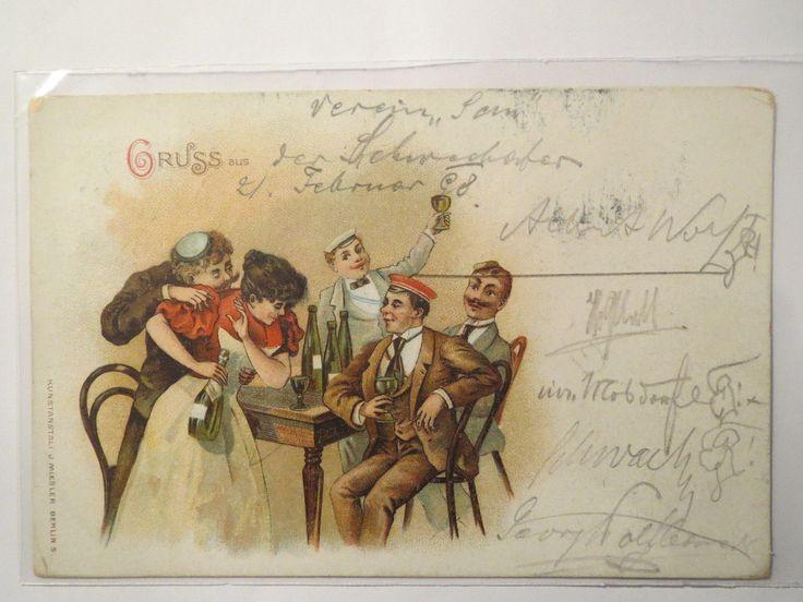 Gruss AUS DER U A Burschenschaft Rhaetogermania Graz 1898 Studentika | eBay