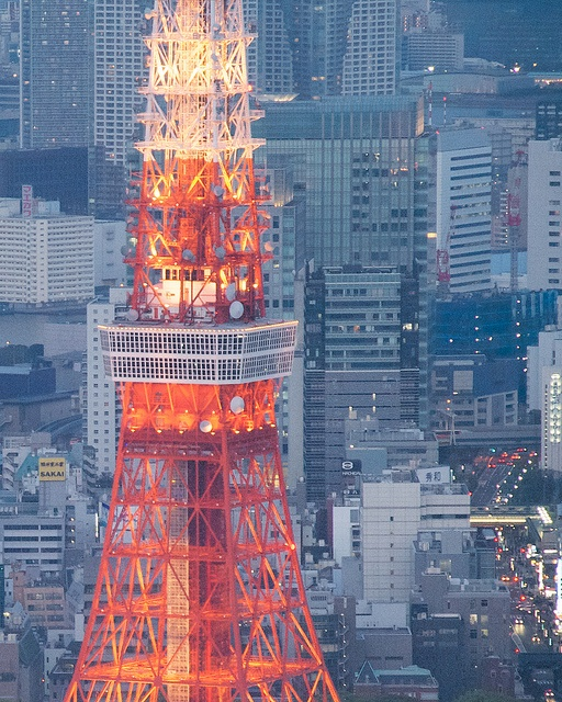Tokyo Tower - from Roppongi Hills Tokyo City View, via Flickr.