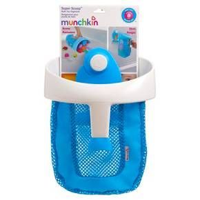 You'll love how simple it is to keep your bathroom clutter-free with the Super Scoop Bath Toy Organizer from Munchkin. The wide mouth and handle allows for easy toy scooping after bath time, and the fish-shaped hook hangs securely on the bathroom wall to drain and dry, providing convenient bath toy storage too. Just unhook the scooper from the wall and glide it across the water for quick, convenient cleanup. With plenty of room to pack in all those dolls, boats, and rubber duckies, you...