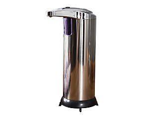 Distributeur de savon automatique inox, argenté - H20