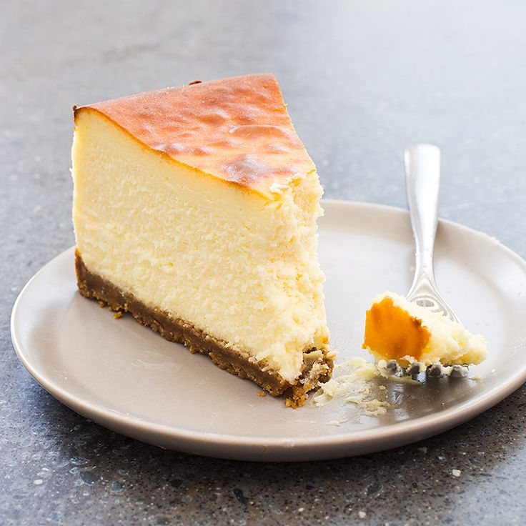 We keep New York Style Cheesecake simple and pure with cream cheese, sugar, eggs, and lemon as our unassuming filling and a rich graham cracker crust. Our secret lies in the baking, with ten minutes at 500 degrees combined with a delicate bake at 200 degrees for ninety minutes.