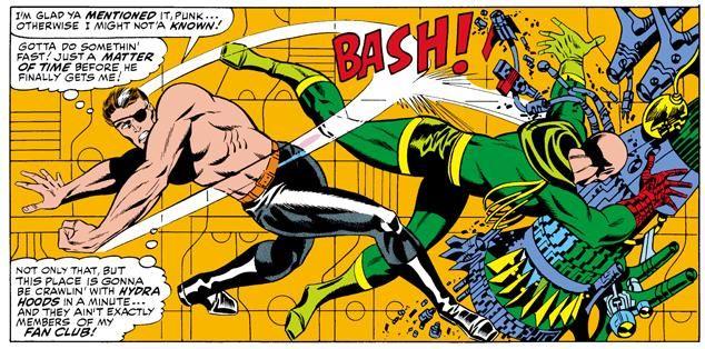 Jim Steranko's Nick Fury Slugs Baron Strucker