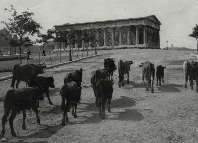 TRAVEL'IN GREECE | Temple of Hephaestus, Thissio, 1915, #Attica, #Greece, #travelingreece