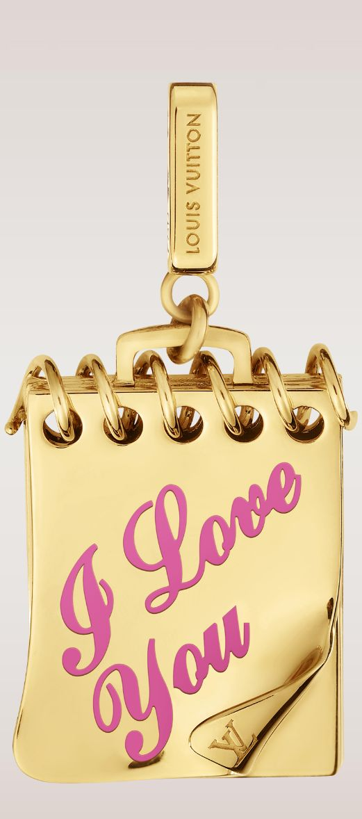 I Love You Notebook Charm by Louis Vuitton (BB)#
