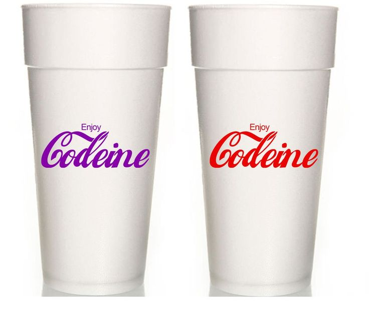 Codeine styrofoam  Foam Cups (10-pack)