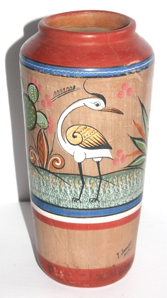 Vintage Painted Mexican Pottery Tonala Large by AntiqueAlchemyShop, $25.00