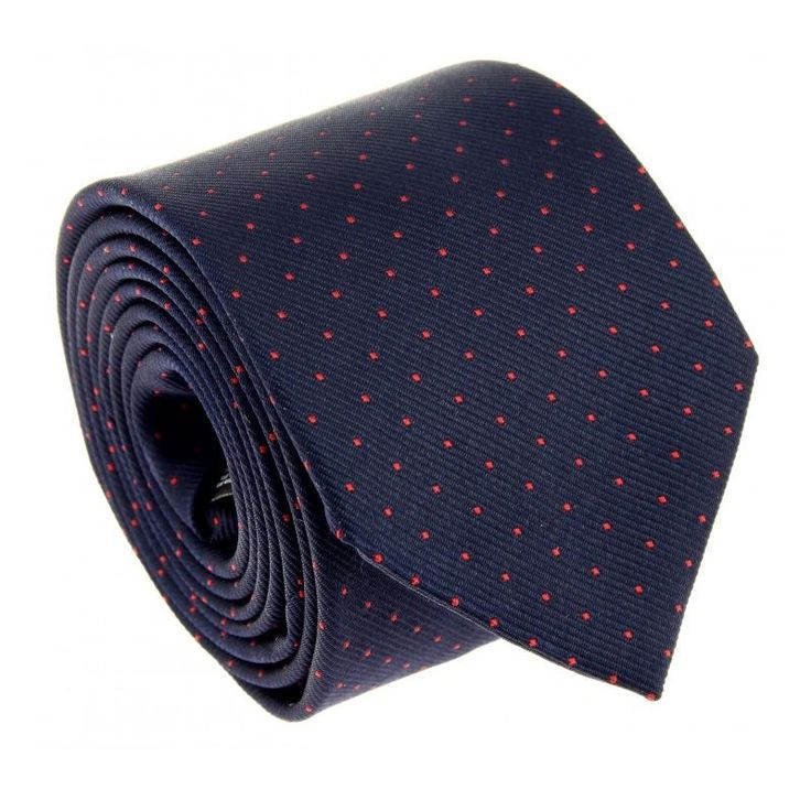 29€ - Cravate bleu marine à pois rouges - Washington II