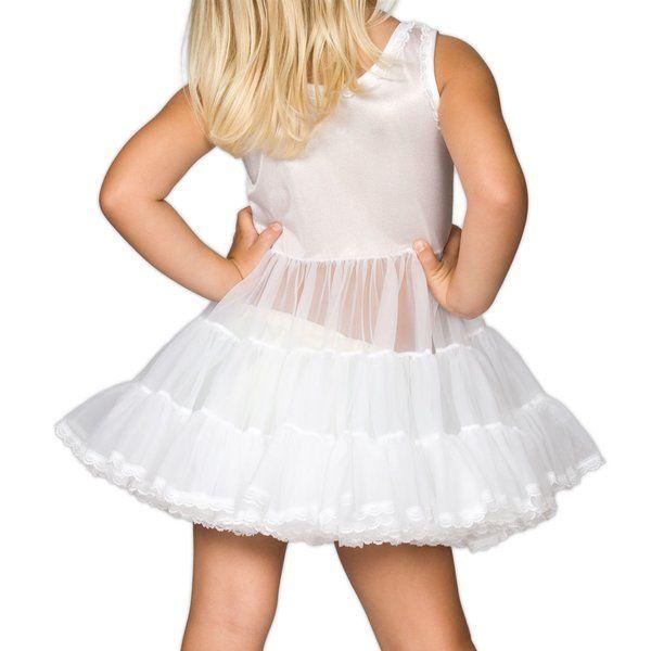 Little Girls White Bouffant full - Slip Petticoat | Cinderella dress for  girls, Girls petticoat, Girls petticoats