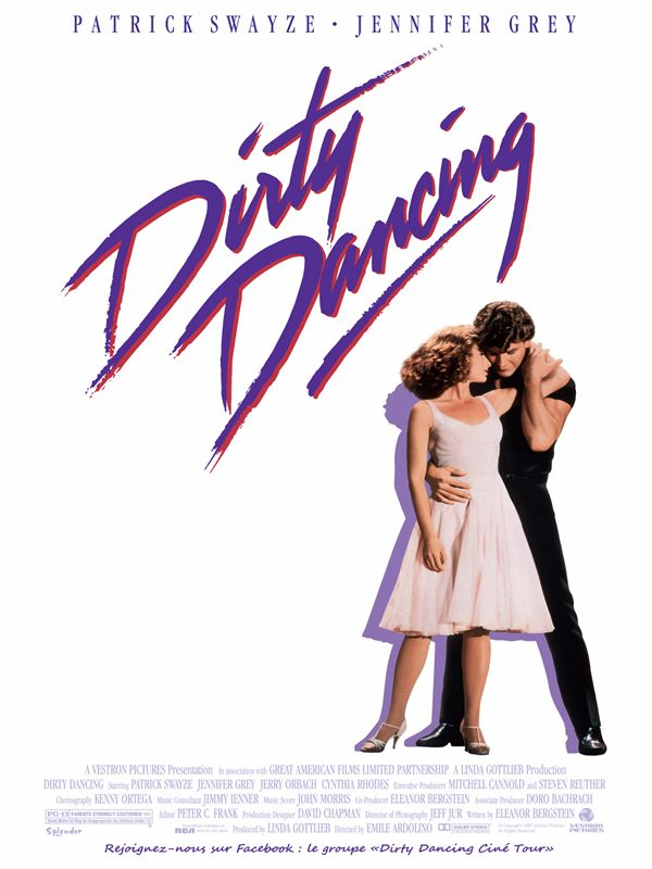 Dirty Dancing est un film de Emile Ardolino avec Jennifer Grey, Patrick Swayze. Synopsis : Dans les années soixante, Bébé passe des vacances familiales monotones jusqu'au jour où elle découvre qu'un groupe d'animateurs du village estival for