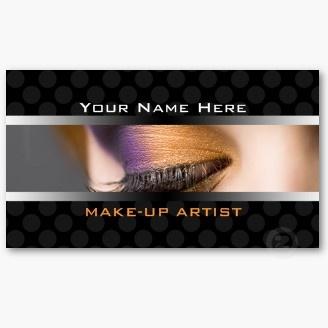 Eyelash and Eyeliner - Business Cards For Makeup Artists