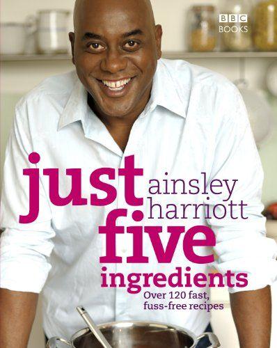 Just Five Ingredients: Over 120 Fast, Fuss-Free Recipes by Ainsley Harriott http://www.amazon.com/dp/0563539240/ref=cm_sw_r_pi_dp_xKYKtb02ZHYNN0PK