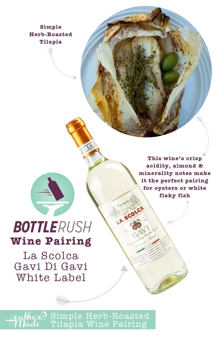 Thirsty Thursday: Simple Herb-Roasted Tilapia + Wine Pairing by HeatherOMade