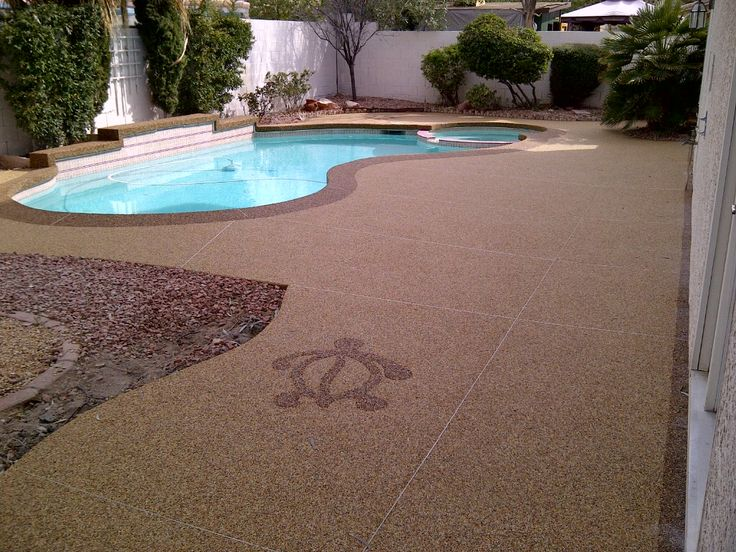 28 best pebble stone pool decks from pebble stone coatings for Above ground pool decks las vegas