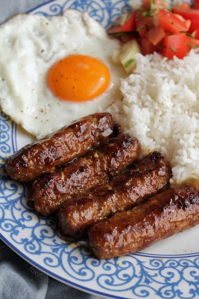 Skinless Longganisa Recipe Longanisa Recipe Food Recipes Brunch Recipes