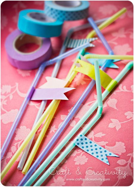 washi party straws
