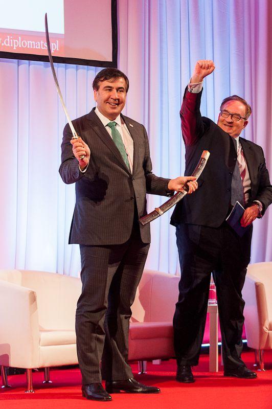 Mikheil Saakashvili and Professor Jacek Saryusz-Wolski.